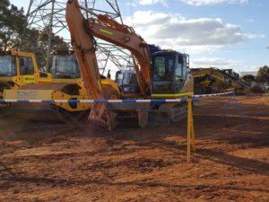Slattery Auctions - Blue & White Hard Barricade Poles