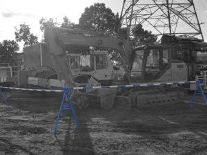 Blue & White Hard Barricade Poles - Slattery Auctions