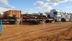 Slattery Auctions - Blue and White Hard Barricading Poles
