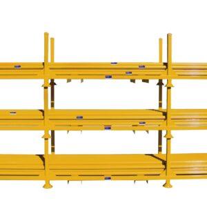 Yellow Barricade Poles Stillage