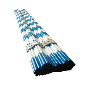 Blue White Heavy Duty Barricade Poles Bundle