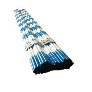 Blue White Heavy Duty Barricade Poles Bundle
