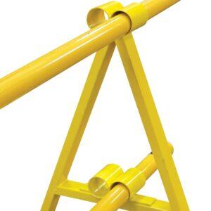 Twin Rail Barricading Legs Yellow Hard Barricade