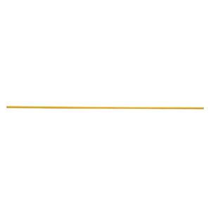 yellow heavy duty a-frame barricade pole