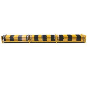 Heavy Duty Barricade Poles - yellow black